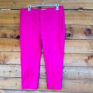 Coldwater Creek bright pink capris